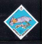 Sellos del Mundo : Asia : Maldivas : Murciélago: Pteropus ariel