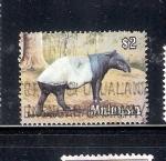 Sellos de Asia - Malasia -  Tapir: Tapirus indicus