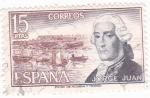 Sellos de Europa - España -  JORGE JUAN- INGENIERO NAVAL (9)