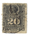 "Stamps of the world : Chile :  ""Colón"": Ruleteado. 1880"
