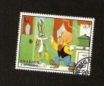 Stamps Asia - United Arab Emirates -  SHARJAH  -Personajes de la Warner - Bugs Bunny Y Elmer