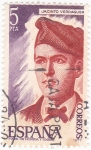 Stamps : Europe : Spain :  JACINTO VERDAGUER - POETA (9)