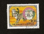 Stamps Asia - Mongolia -  Felinos - Manul o gato de Pallas