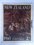 Stamps : Oceania : New_Zealand :  New Zealand- Rembrandt Nativity-Christmas 1960