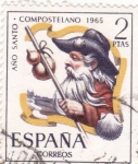 Stamps : Europe : Spain :  AÑO SANTO COMPOSTELANO (9)