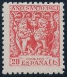 Stamps : Europe : Spain :  ESPAÑA 964 AÑO SANTO COMPOSTELANO 1943