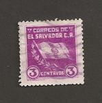 Sellos de America - El Salvador -  Bandera nacional