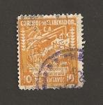 Stamps El Salvador -  Ingenio de caña de azucar