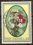 Sellos de Europa - Italia -   Claveles.