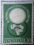Stamps Venezuela -  El Mundo Unido Contra El Paludismo-Tercer Pais del Mundo con Mayor territorio Libre de Malaria.