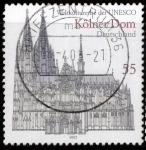 Stamps Germany -  CATEDRAL DE COLONIA - PATRIMONIO MUNDIAL DE LA UNESCO