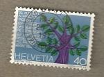 Stamps Switzerland -  50º Congreso Suizos en el extranjero
