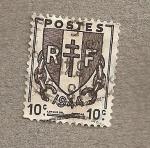 Stamps Europe - France -  Escudo nacional