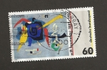 Stamps Germany -  Bluxao por Willi Baumeister