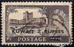 Sellos del Mundo : Asia : Kuwait : REINA ELIZABETH. Edinburgh castle, Scotland.