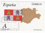 Stamps Spain -  AUTONOMIAS ESPAÑOLAS- CASTILLA Y LEÓN (9)