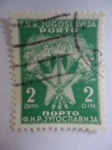 Stamps Europe - Yugoslavia -  Antorchas-Estrella. F.N.R. Jugoslavija (Kosovo)-Nopto - Antorchas y Estrella.