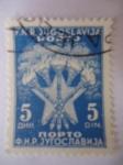 Stamps Europe - Yugoslavia -  Antorchas - Estrella -