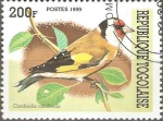 Sellos de Africa - Togo -  AVES.  CARDUELIS  CARDUELIS.