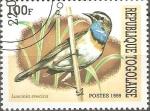 Stamps Togo -  AVES.  LUSCINIA  SVECICA.