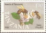 Stamps Tanzania -  INSECTOS.  ABEJAS.