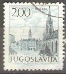Sellos de Europa - Yugoslavia -  CATEDRAL  Y  EDIFICIO  ESTATAL.  NOVI  SAD.