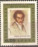 Stamps Venezuela -  SIMÒN  BOLÌVAR.  PINTURA  ANÒNIMA.