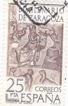 Stamps : Europe : Spain :  BIMILENARIO DE ZARAGOZA- MOSAICO DE ORFEO (9)