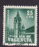 Stamps Spain -  plan sur de valencia