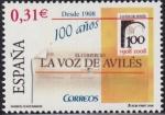 Stamps Spain -  100 Años - La voz de avilez