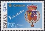Stamps : Europe : Spain :  Boda de S.A.R. el principe de Asturias