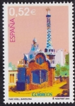 Stamps Spain -  Parc Guell