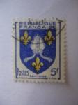 Stamps : Europe : France :  République Française - Escudo de la Provincia de saintonge