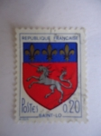 Stamps : Europe : France :  Escudo - Republique Française - Escudo de Armas de saint-Lo