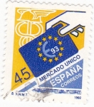Stamps of the world : Spain :  MERCADO UNICO  €93  (9)
