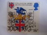 Stamps United Kingdom -  College of Arms Quincentenary