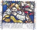 Stamps New Zealand -  CHRISTMAS- ANGELES MÚSICOS