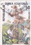 Stamps Equatorial Guinea -  MOKOM- BAILE FANG