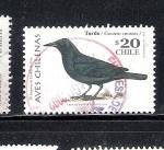 Sellos del Mundo : America : Chile : Aves chilenas: Tordo (Curacus curacus)