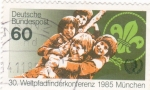 Stamps Germany -  CONFERENCIA SCOUT MUNDIAL