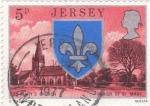 Stamps Jersey -  IGLESIA Y ESCUDO