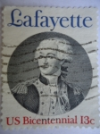 Stamps United States -  Marquis de Lafayette - Bicentennial.