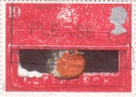 Stamps United Kingdom -  PÁJARO EN BOCA DE BUZÓN