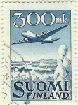 Stamps Finland -  Tetramotor en vuelo - Douglas DC 6