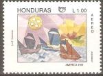 Stamps Honduras -  LAS  TRES  CARAVELAS  DE  CRISTOBAL  COLÒN