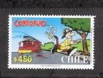 Sellos del Mundo : America : Chile : Cómic: Condorito bombero