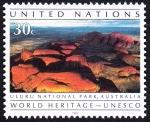 Stamps ONU -  AUSTRALIA - Parque nacional de Ulurú-Kata Tjuta