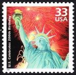 Stamps United States -  ESTADOS UNIDOS - Estatua de la Libertad