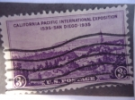 Stamps United States -  U.S. Postage- California pacific international Exposition 1535-San Diego-1935 -