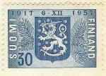 Stamps Europe - Finland -  Escudo de Finlandia